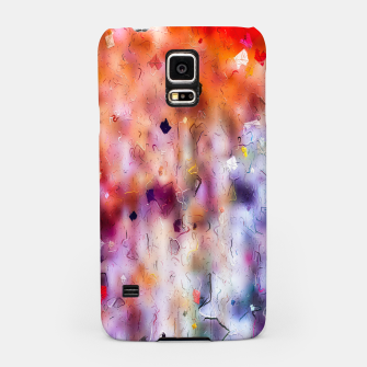 Miniatur colorful painting texture abstract background in orange purple Samsung Case, Live Heroes