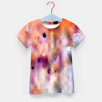 colorful painting texture abstract background in orange purple Kid's t-shirt thumbnail image