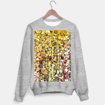 fractal geometric triangle shape abstract art in yellow and red Sweater regular thumbnail image