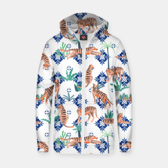 Tigers in Morocco Zip up hoodie thumbnail image
