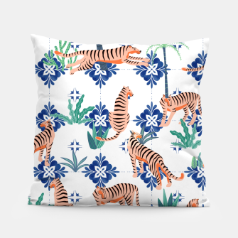 Tigers in Morocco Pillow thumbnail image