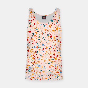 Blush Terrazzo, Eclectic Colorful Abstract Geometrical Shapes Tiles, Pop of Color Graphic Design Tank Top thumbnail image