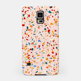 Blush Terrazzo, Eclectic Colorful Abstract Geometrical Shapes Tiles, Pop of Color Graphic Design Samsung Case thumbnail image