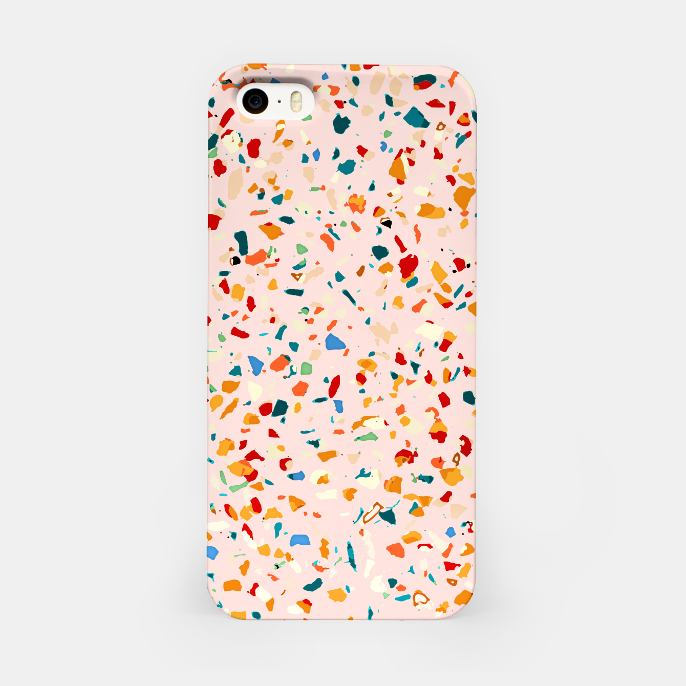 Image of Blush Terrazzo, Eclectic Colorful Abstract Geometrical Shapes Tiles, Pop of Color Graphic Design iPhone Case - Live Heroes
