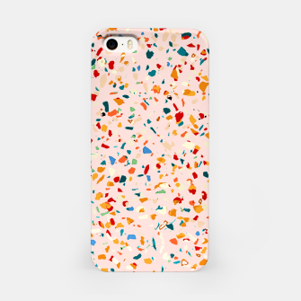 Blush Terrazzo, Eclectic Colorful Abstract Geometrical Shapes Tiles, Pop of Color Graphic Design iPhone Case thumbnail image