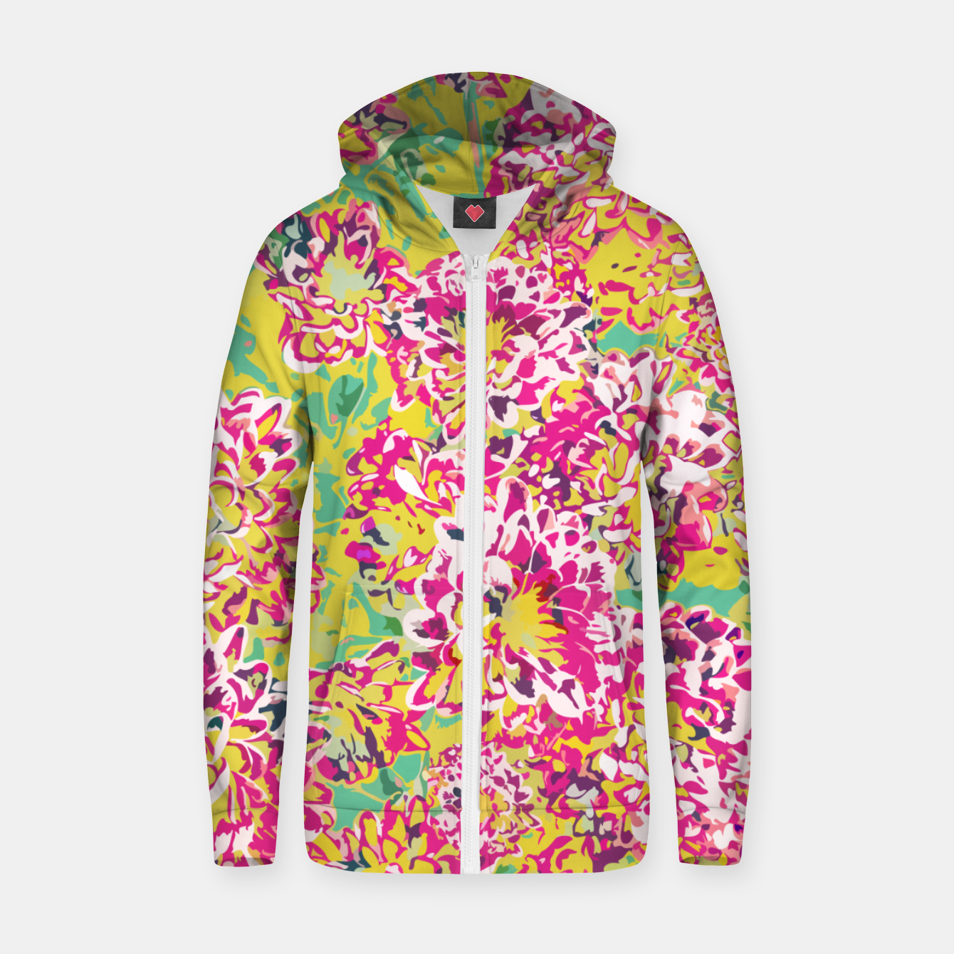 Image of All Along You Were Blooming Zip up hoodie - Live Heroes