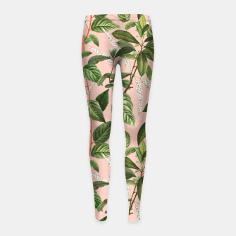 How Lovely Is the Silence of Growing Things Girl's leggings thumbnail image