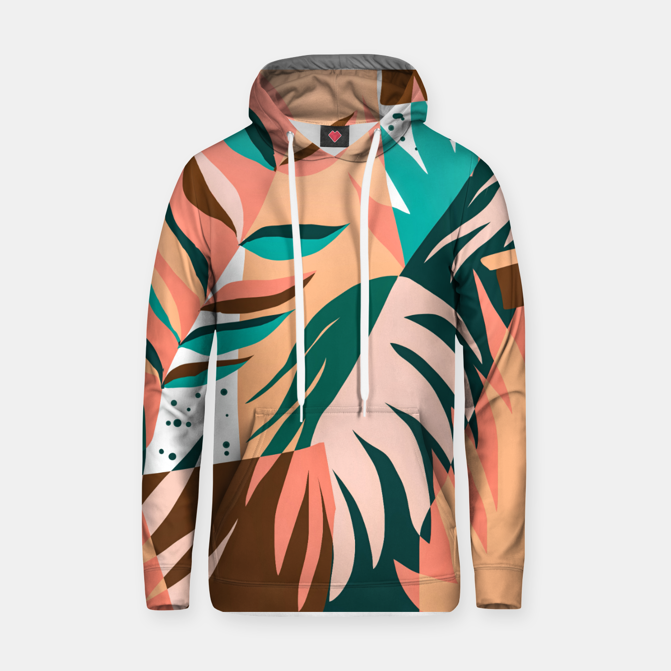 Image of Watching The Leaves Turn, Tropical Autumn Colorful Eclectic Abstract Palm Nature Boho Graphic Design Hoodie - Live Heroes