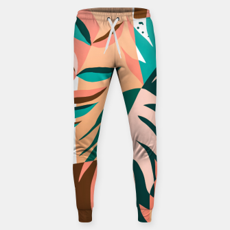 Imagen en miniatura de Watching The Leaves Turn, Tropical Autumn Colorful Eclectic Abstract Palm Nature Boho Graphic Design Sweatpants, Live Heroes