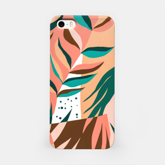 Miniaturka Watching The Leaves Turn, Tropical Autumn Colorful Eclectic Abstract Palm Nature Boho Graphic Design iPhone Case, Live Heroes
