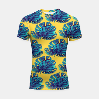 Monstera Bohemian Yellow  Shortsleeve rashguard thumbnail image