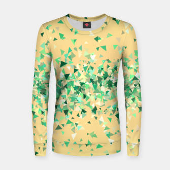 Summer breeze, abstract beach print in yellow and green Women sweater thumbnail image