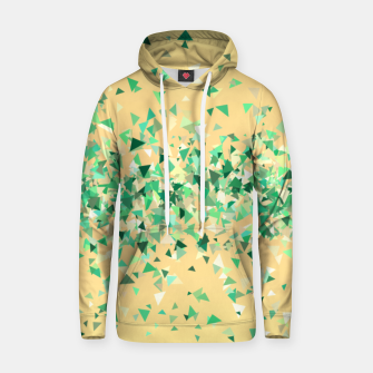 Summer breeze, abstract beach print in yellow and green Hoodie thumbnail image