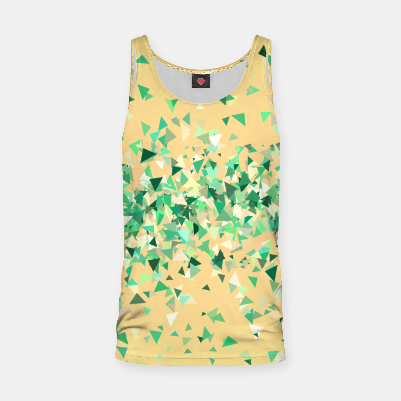 Image of Summer breeze, abstract beach print in yellow and green Tank Top - Live Heroes