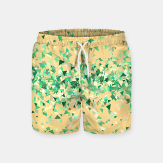 Summer breeze, abstract beach print in yellow and green Swim Shorts thumbnail image