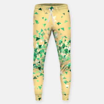 Summer breeze, abstract beach print in yellow and green Sweatpants thumbnail image