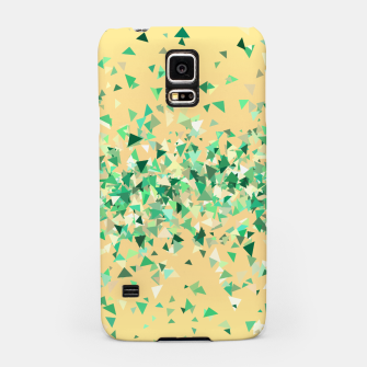 Summer breeze, abstract beach print in yellow and green Samsung Case thumbnail image