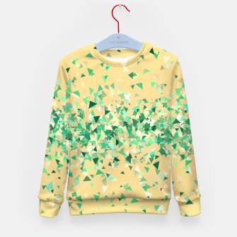 Summer breeze, abstract beach print in yellow and green Kid's sweater thumbnail image