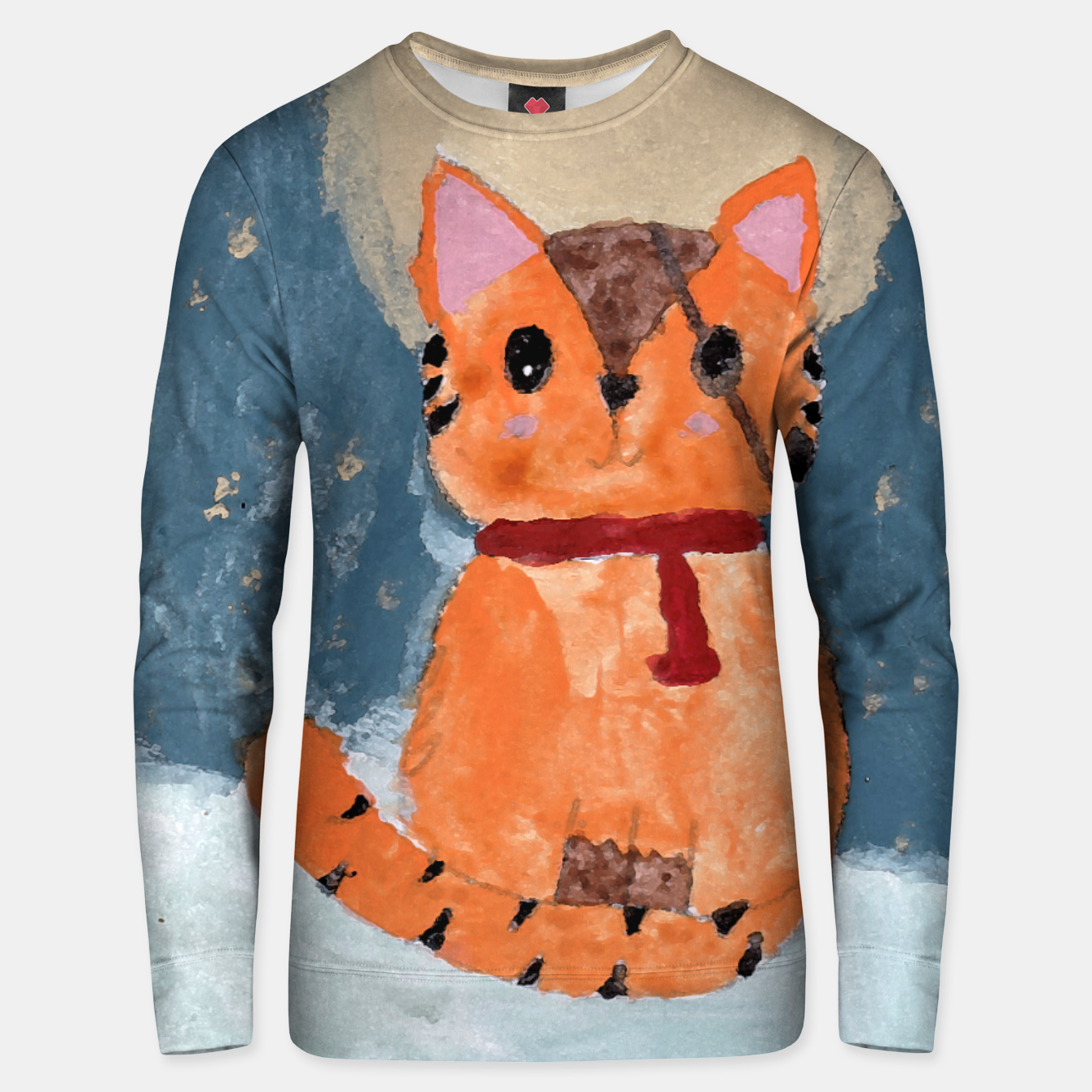 Image of Natali's tiger kitty with pirate eye bandage, a promise to my daughter Unisex sweater - Live Heroes
