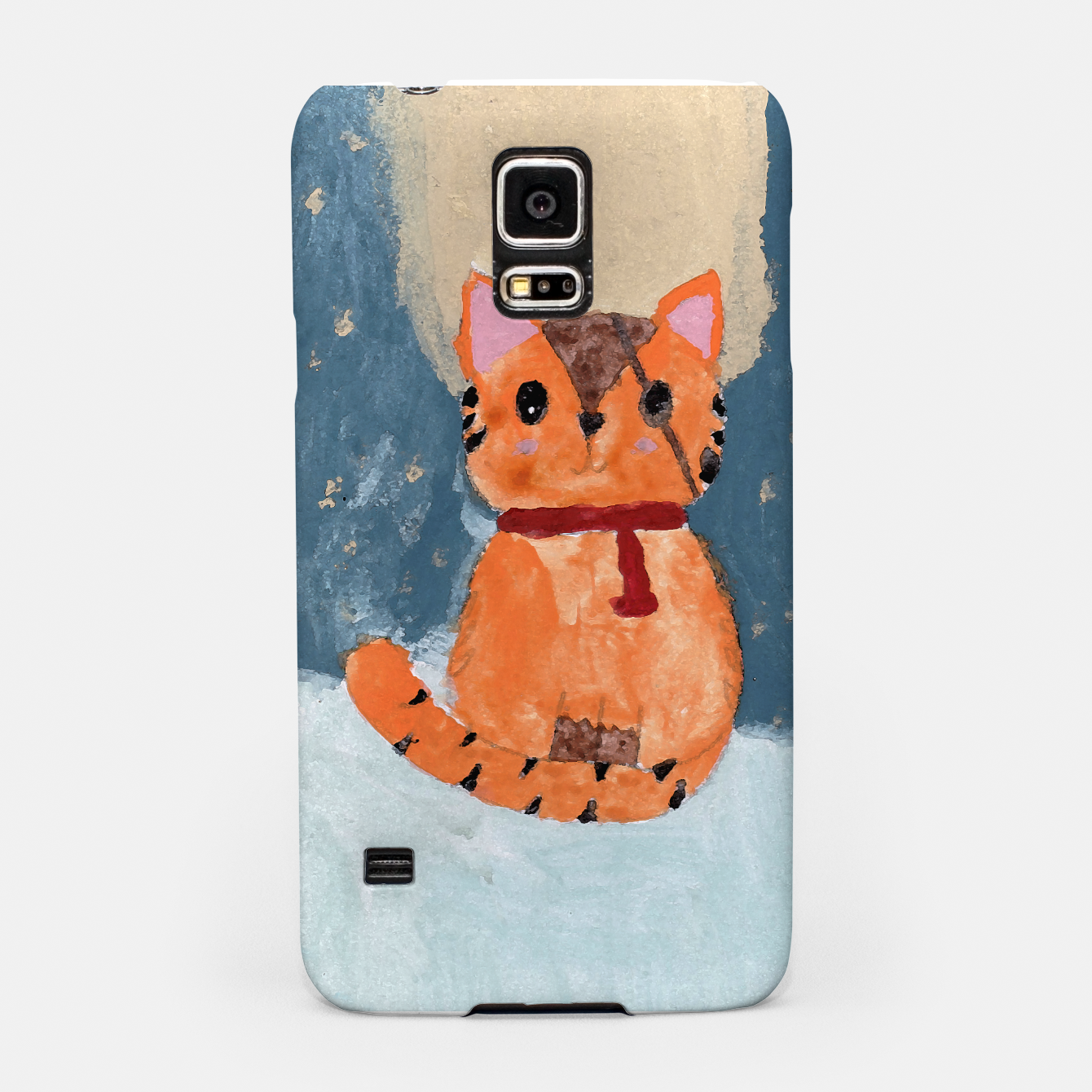 Image of Natali's tiger kitty with pirate eye bandage, a promise to my daughter Samsung Case - Live Heroes