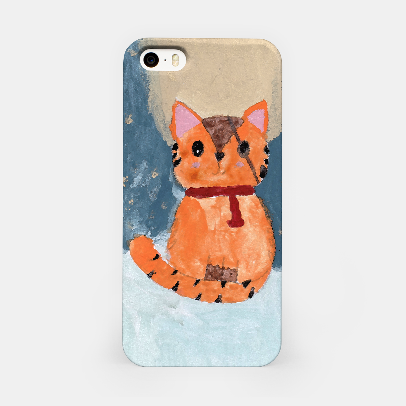 Image of Natali's tiger kitty with pirate eye bandage, a promise to my daughter iPhone Case - Live Heroes