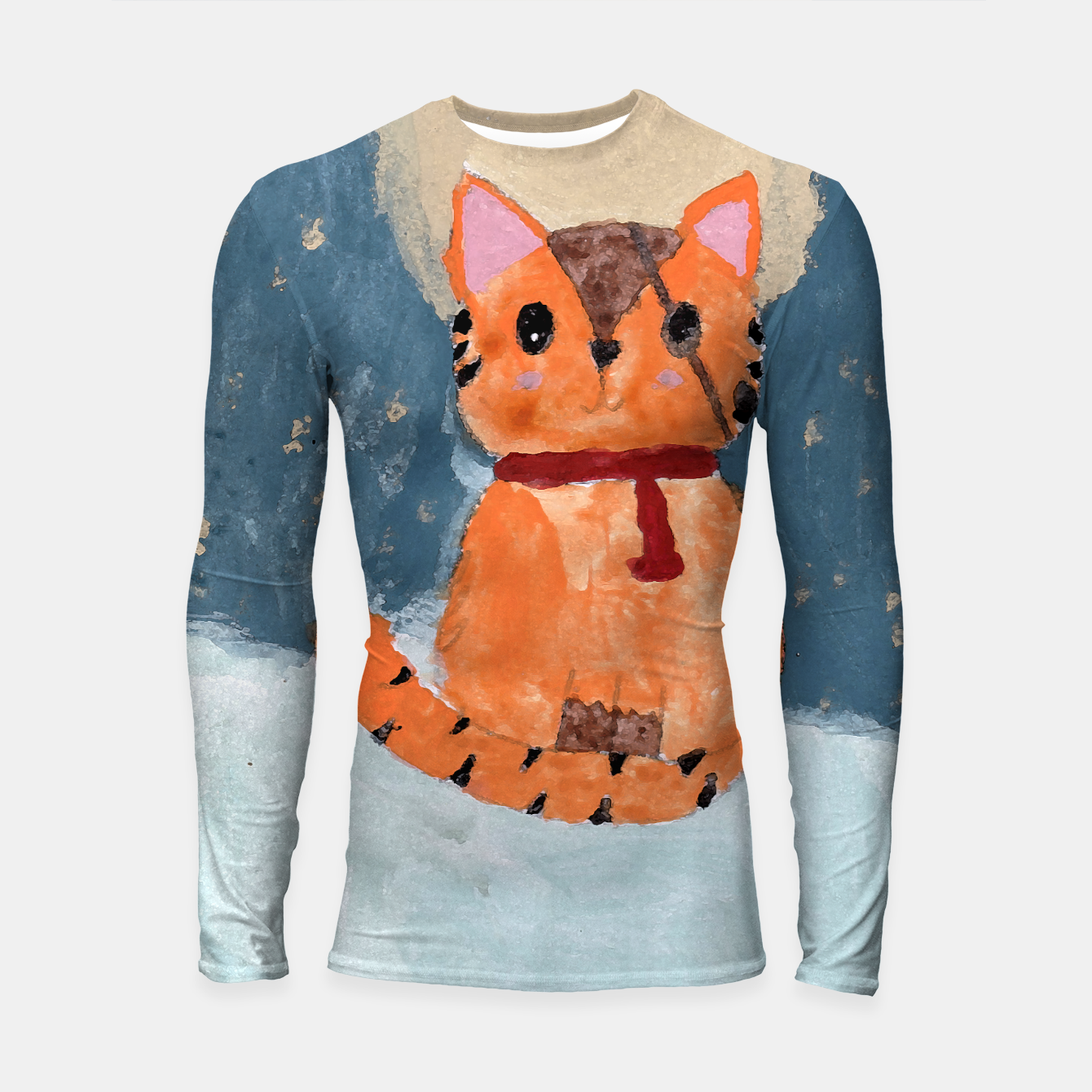 Image of Natali's tiger kitty with pirate eye bandage, a promise to my daughter Longsleeve rashguard  - Live Heroes