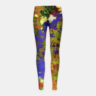 Thumbnail image of A returning thought Girl's leggings, Live Heroes