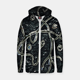 Thumbnail image of Dark Abstract Surface Artwork Zip up hoodie, Live Heroes