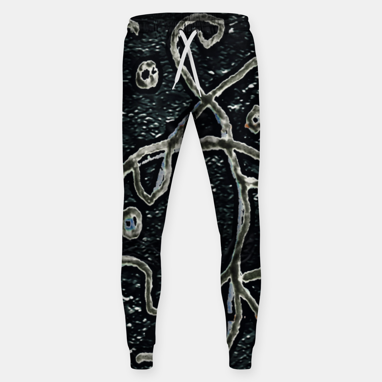 Image of Dark Abstract Surface Artwork Sweatpants - Live Heroes