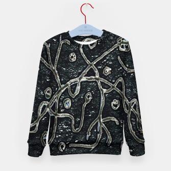 Imagen en miniatura de Dark Abstract Surface Artwork Kid's sweater, Live Heroes