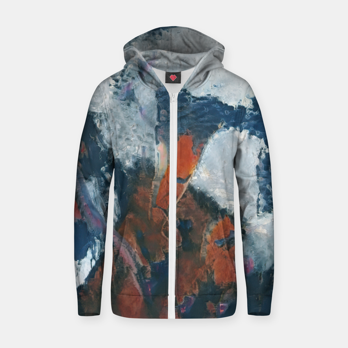 Image of abstract 1 Zip up hoodie - Live Heroes