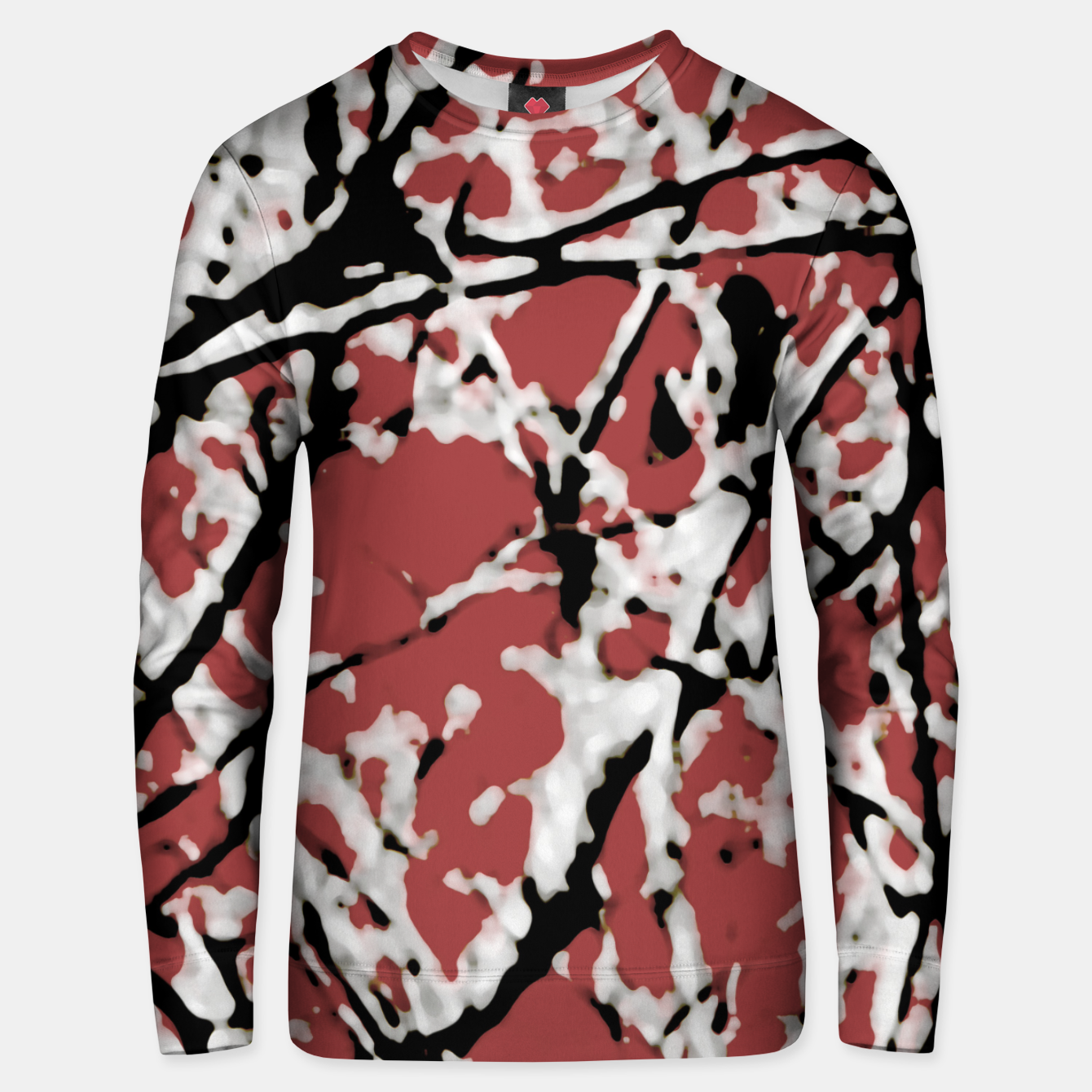 Image of Vibrant Abstract Textured Artwork Unisex sweater - Live Heroes