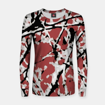 Thumbnail image of Vibrant Abstract Textured Artwork Women sweater, Live Heroes