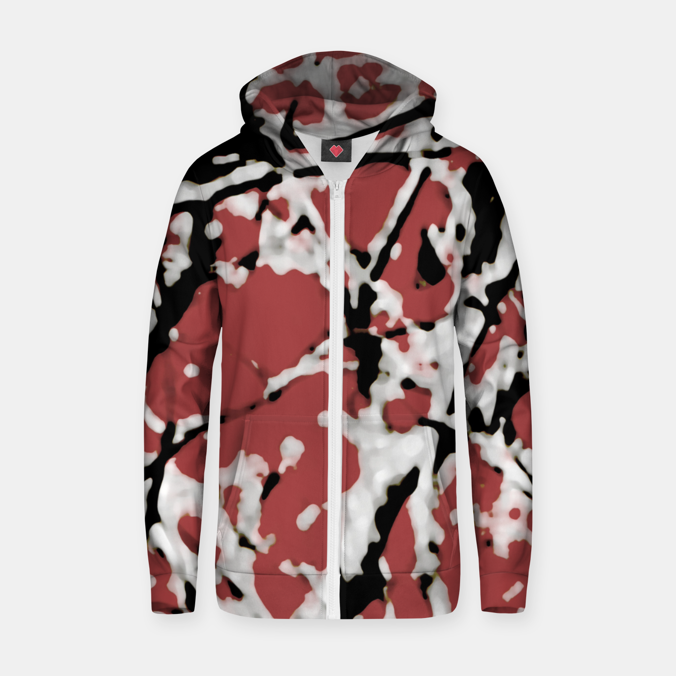 Image of Vibrant Abstract Textured Artwork Zip up hoodie - Live Heroes