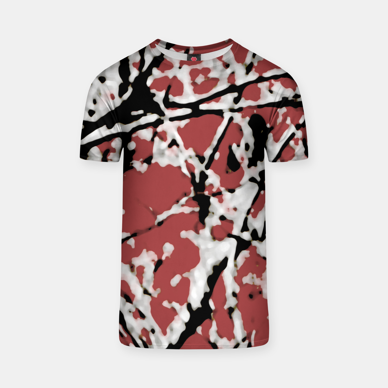 Image of Vibrant Abstract Textured Artwork T-shirt - Live Heroes