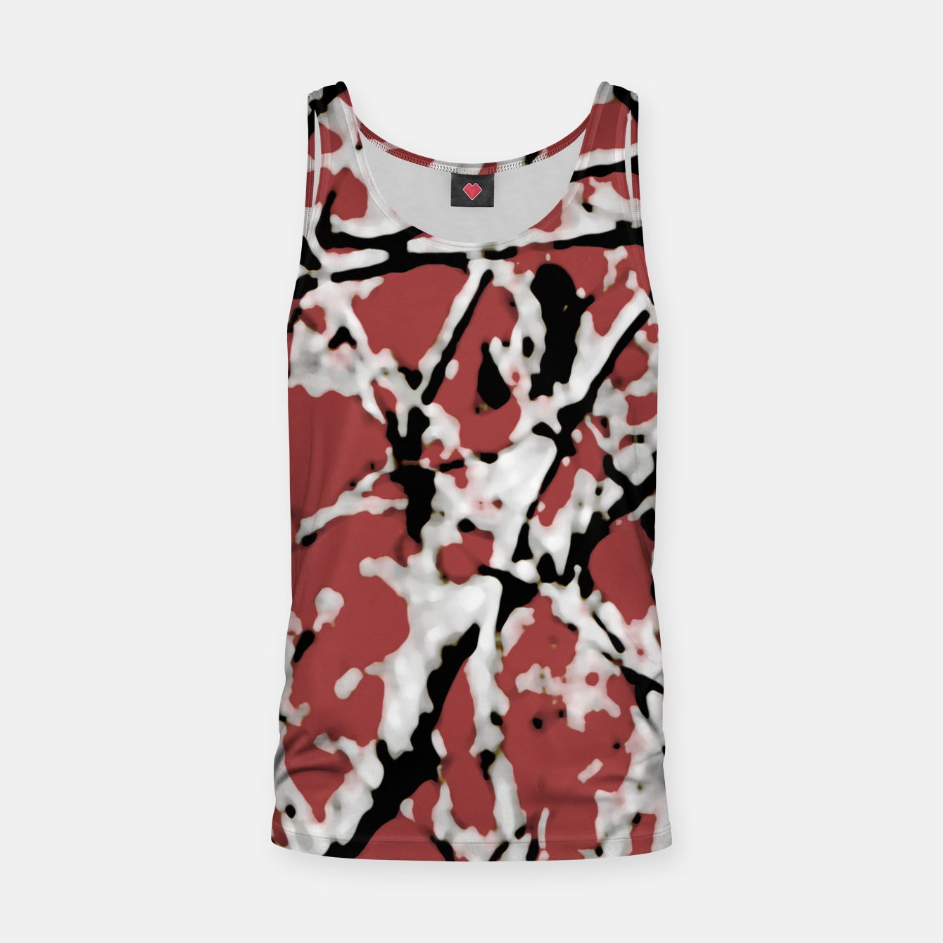Image of Vibrant Abstract Textured Artwork Tank Top - Live Heroes