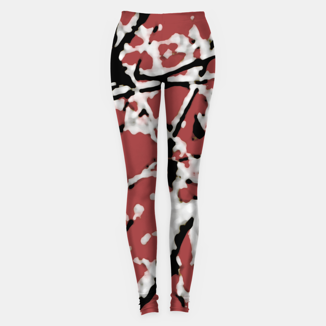 Image of Vibrant Abstract Textured Artwork Leggings - Live Heroes