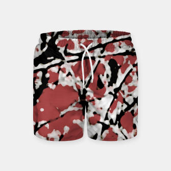 Vibrant Abstract Textured Artwork Swim Shorts thumbnail image