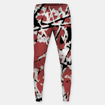 Thumbnail image of Vibrant Abstract Textured Artwork Sweatpants, Live Heroes