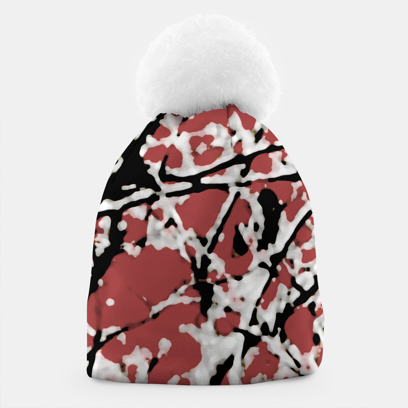 Image of Vibrant Abstract Textured Artwork Beanie - Live Heroes