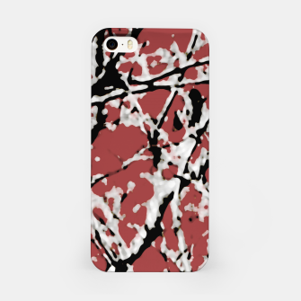 Vibrant Abstract Textured Artwork iPhone Case thumbnail image