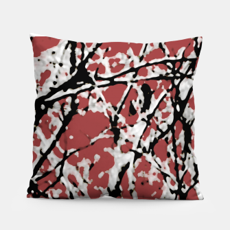 Vibrant Abstract Textured Artwork Pillow thumbnail image