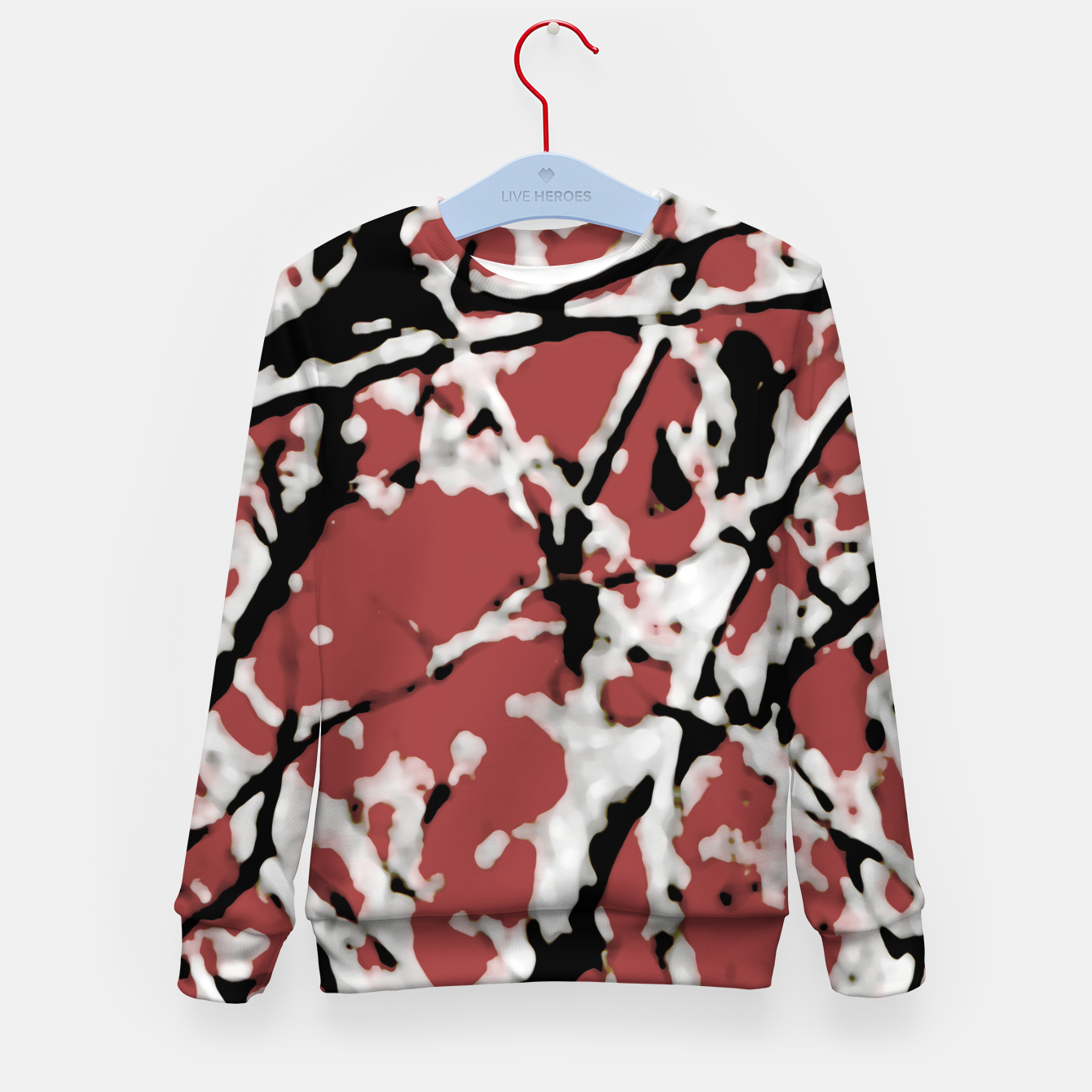 Image of Vibrant Abstract Textured Artwork Kid's sweater - Live Heroes