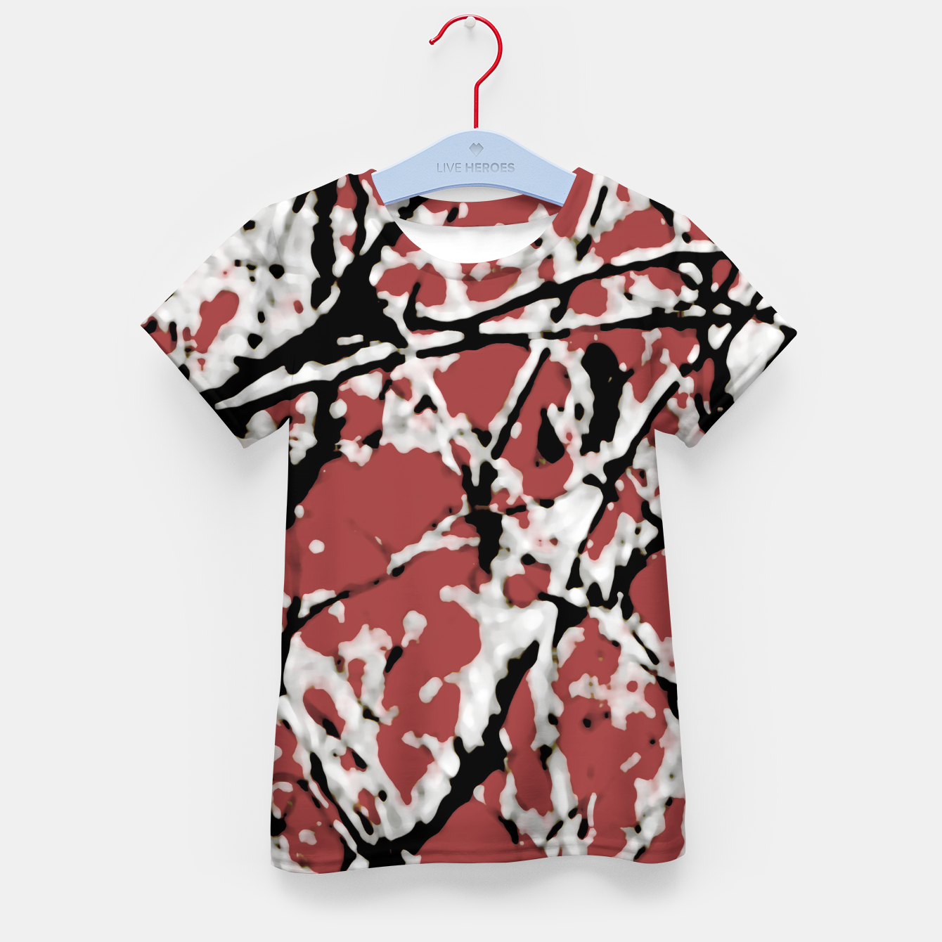 Image of Vibrant Abstract Textured Artwork Kid's t-shirt - Live Heroes