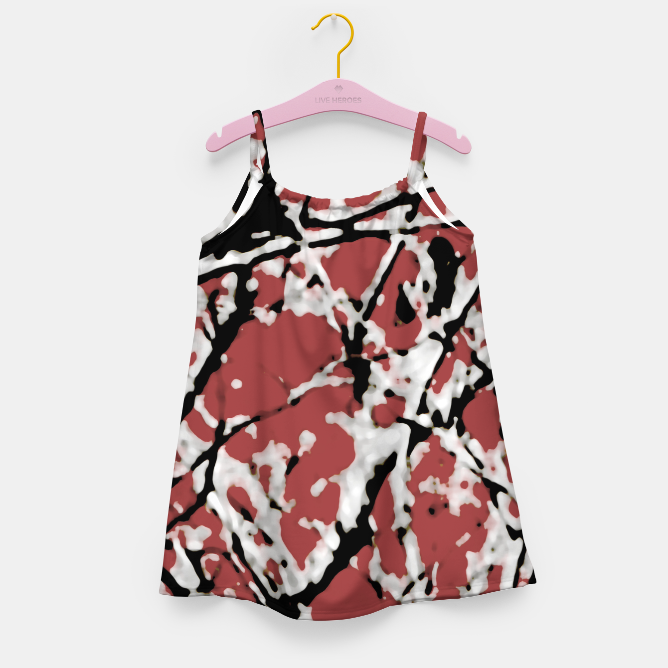 Image of Vibrant Abstract Textured Artwork Girl's dress - Live Heroes