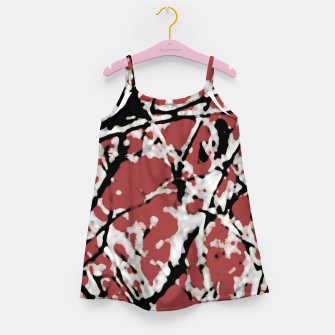 Thumbnail image of Vibrant Abstract Textured Artwork Girl's dress, Live Heroes