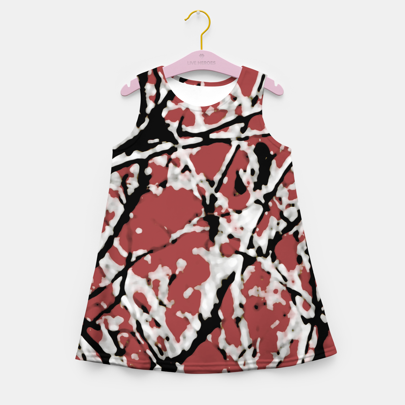 Image of Vibrant Abstract Textured Artwork Girl's summer dress - Live Heroes