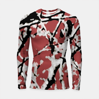 Vibrant Abstract Textured Artwork Longsleeve rashguard  thumbnail image