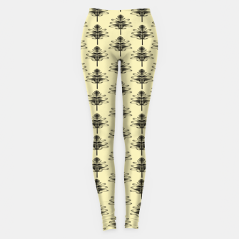 Spring black Flowers  Leggings thumbnail image