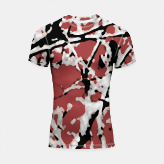 Thumbnail image of Vibrant Abstract Textured Artwork Shortsleeve rashguard, Live Heroes